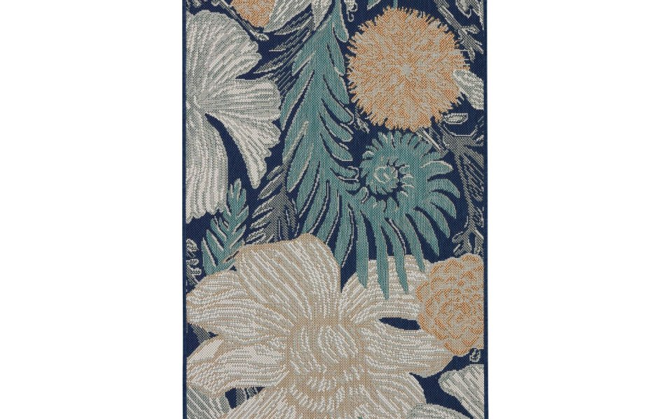 outdoor rugs indoor Threshold Woodcut Floral