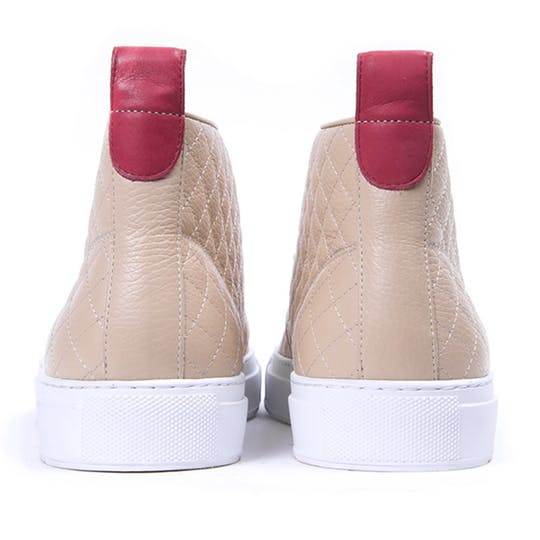 quilted leather chukka sneakers del toro