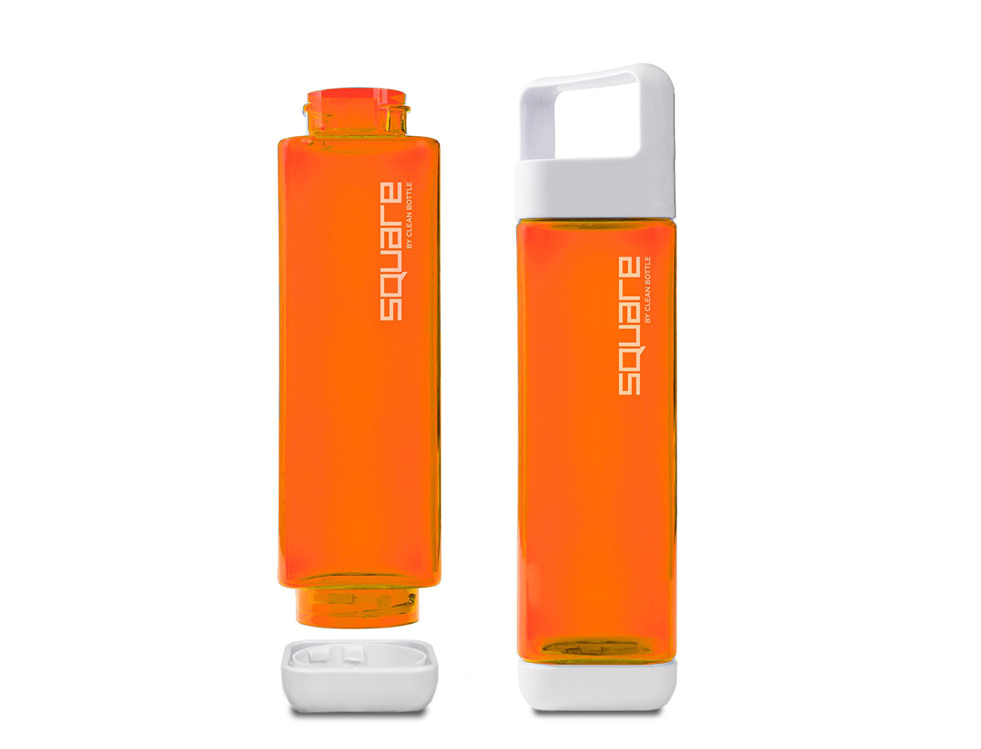 Clean Bottle Square Tritan BPA-Free Water Bottle