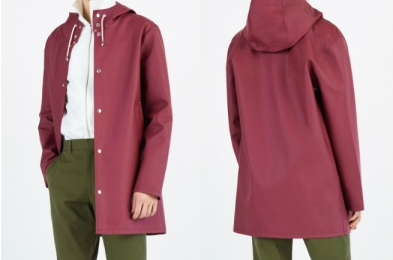 Stutterheim Stockholm Burgundy Raincoat