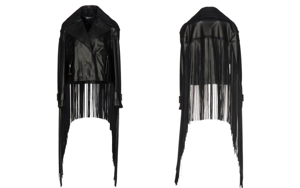 tom ford fringe biker jacket