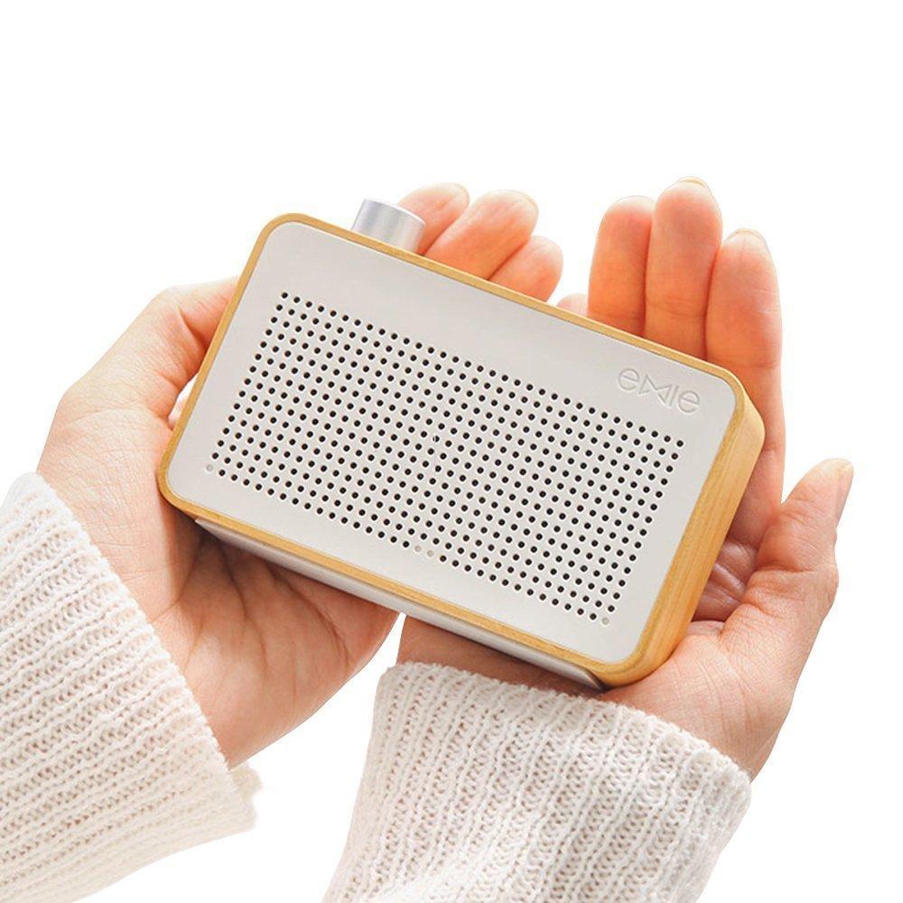 EMIE Minimalist Wooden Portable Bluetooth Speaker