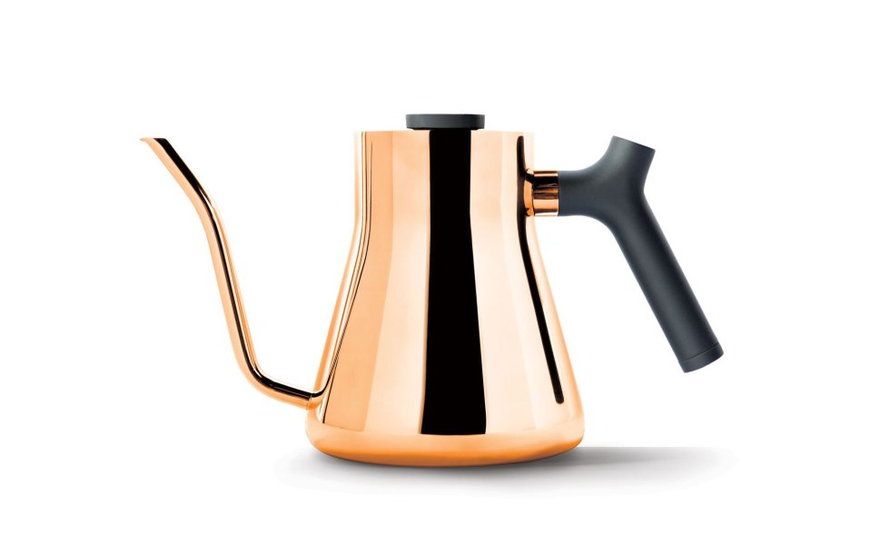copper kettle Stagg pour-over coffee
