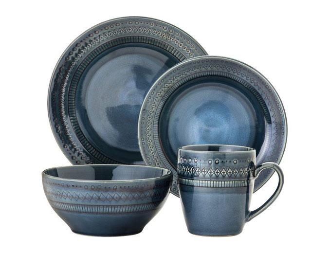 blue dinnerware Kingsland stoneware set Threshold