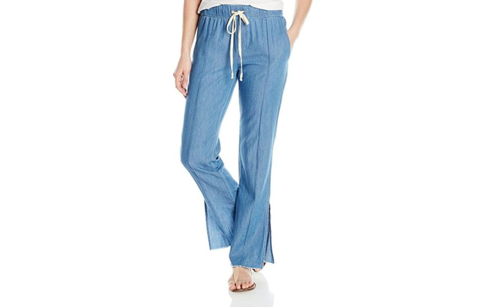 drawstring chambray trousers enza costa