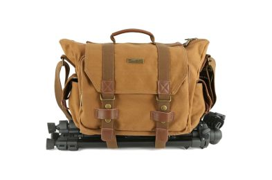 Evecase Large Canvas Messenger SLRDSLR Camera Bag
