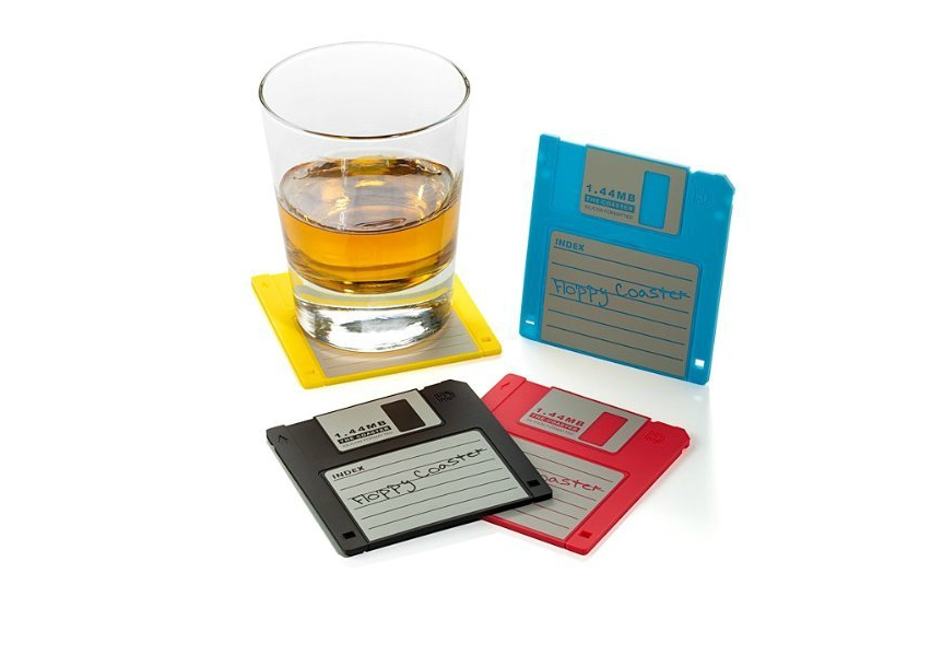 These Floppy Disc Drink Coasters Bring
