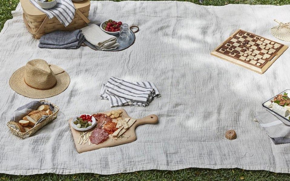 table linens Parachute Home linen tablecloth