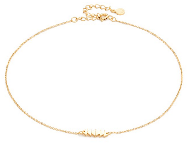 This Dainty Gold Choker Necklace Will