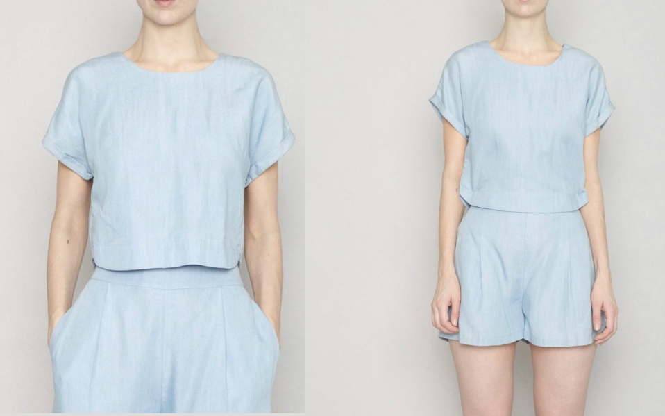This Chambray Top Is Also Half