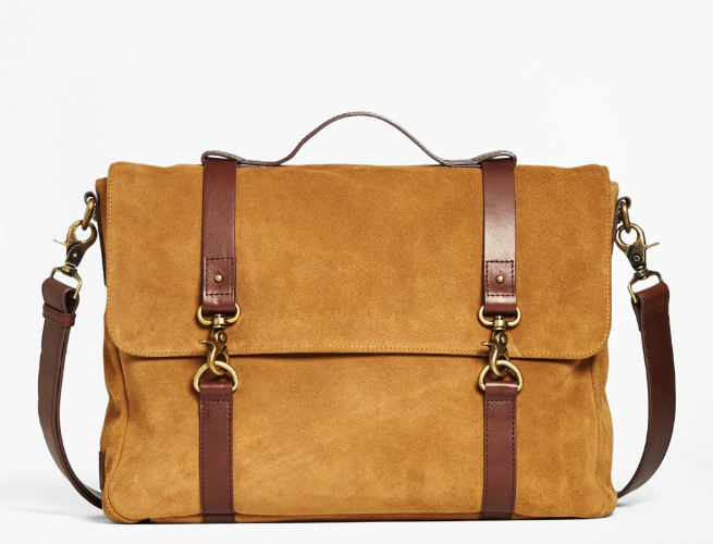 Brooks Brothers Releases Suede Convertible Messenger