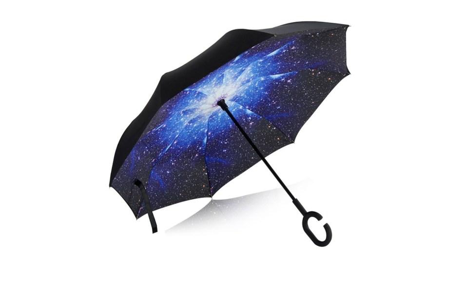 This Reversible Umbrella from Smart-Brella Won't