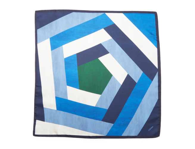 Z Zegna's Pentagon Pocket Square is