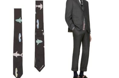 Thom Browne  Black Shark & Surfboard Classic Tie