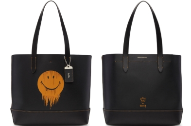 Coach 1941 Baseman Edition Gnarly Face Gotham Tote Black