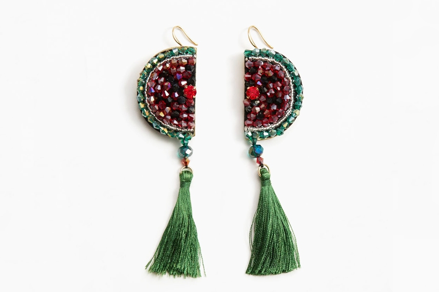 These Beaded Watermelon Earrings Make a