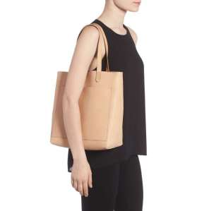 medium leather transport tote madewell