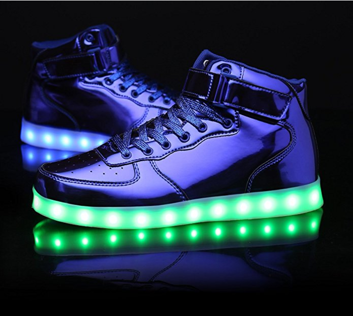 MOHEM ShinyNight High Top LED Shoes