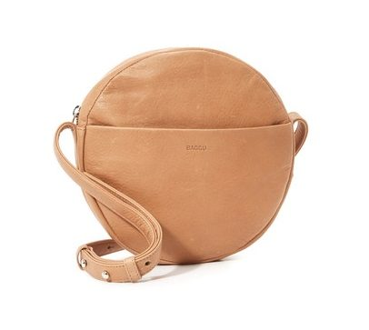 circular leather crossbody bag