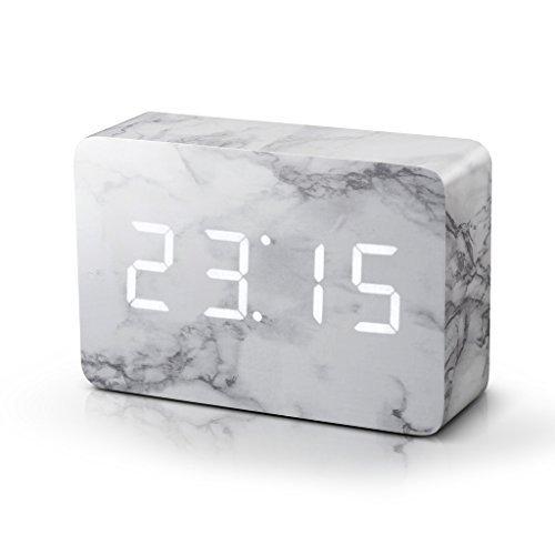 brick marble desk clock