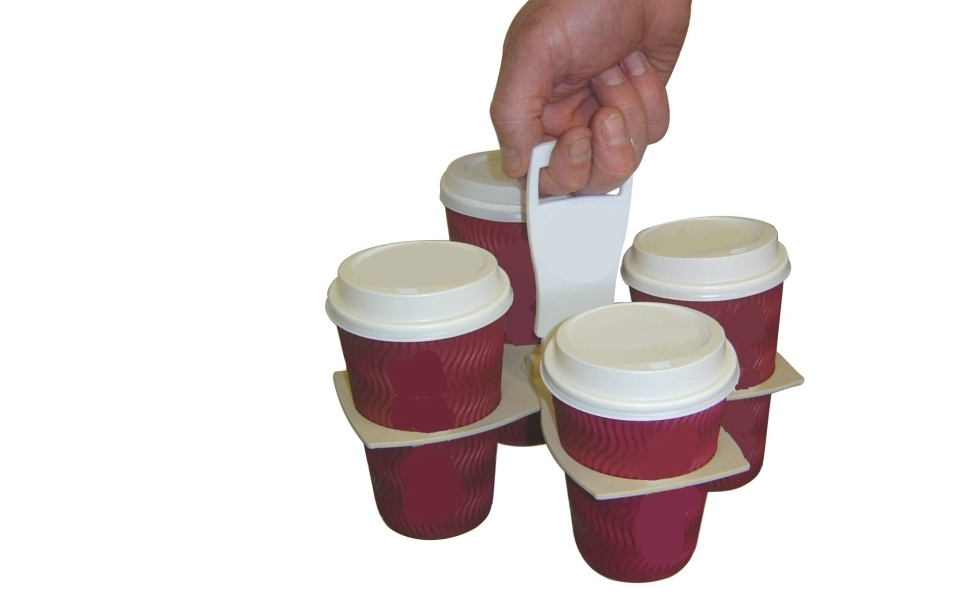 Carry Four Drinks Conveniently With This