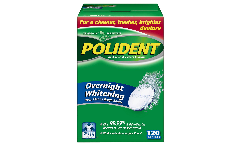 Polident Denture Cleaner Overnight Tablets