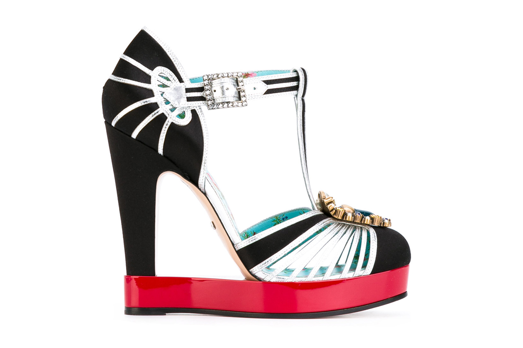 gucci cut out t-strap platforms