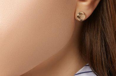 -Hasbro Hat 14-karat gold earring