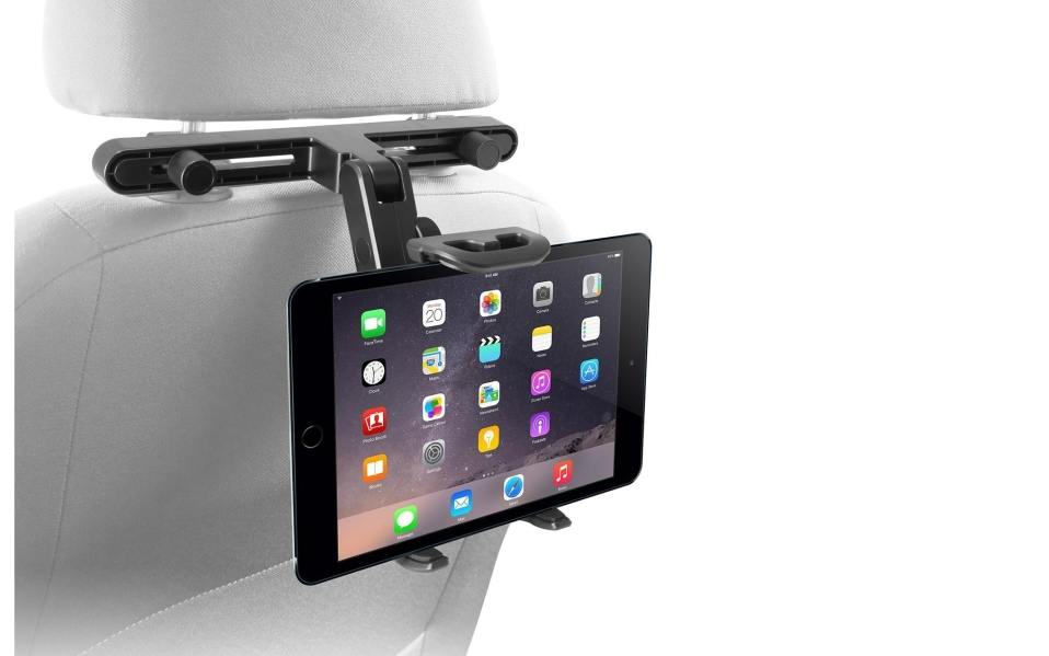 An iPad headrest mount from Macally