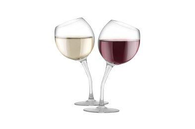 KOVOT Tilted Wine Glass Set