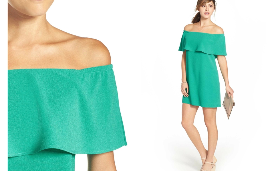This Flutter Off-the-Shoulder Dress is Flirty