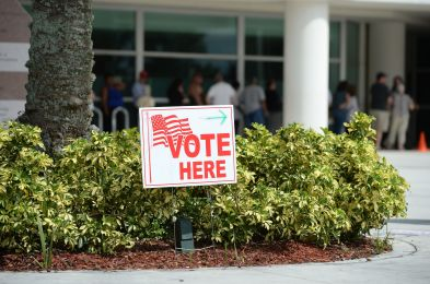 Early voting at Coral Springs Library, Florida, USA - 24 Oct 2016