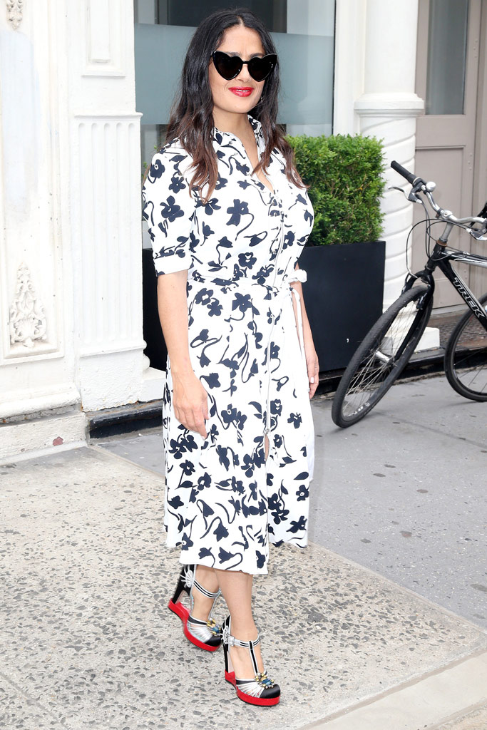 salma hayek gucci shoes