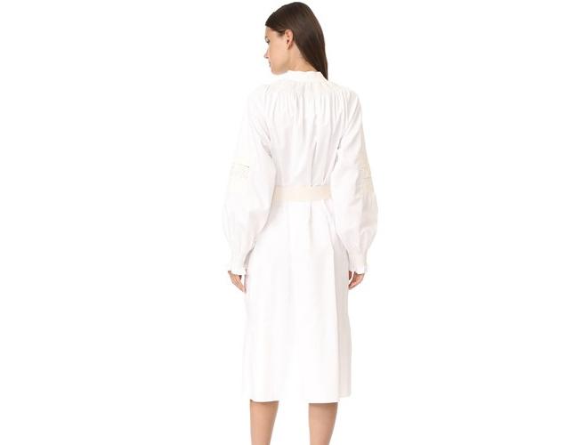 Tibi white midi dress