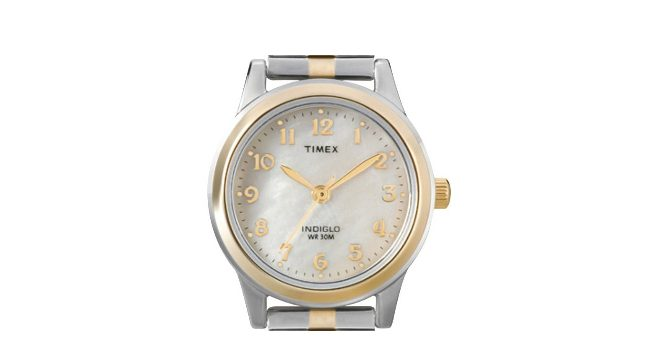 Timex Gold and Silver Watch