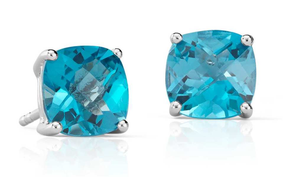 These Topaz Solitaire Earrings Are Just