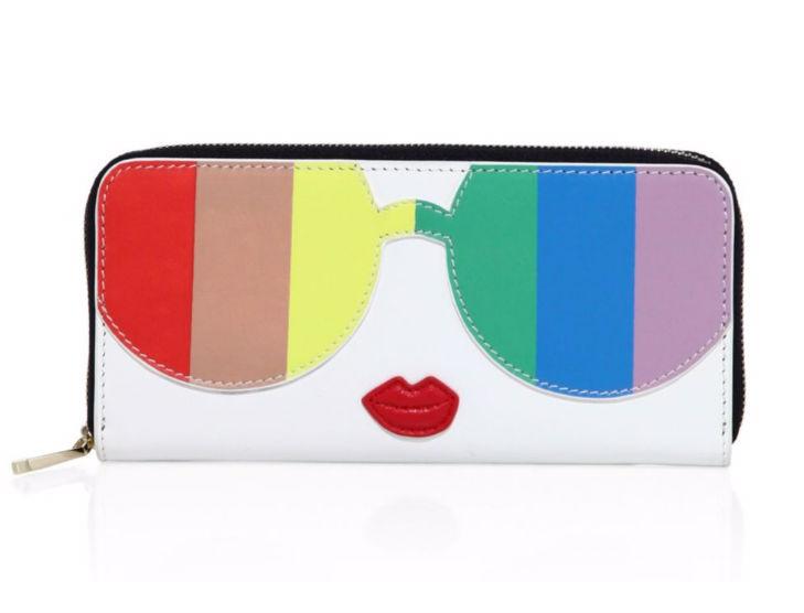 Alice + Olivia Rainbow Leather Wallet