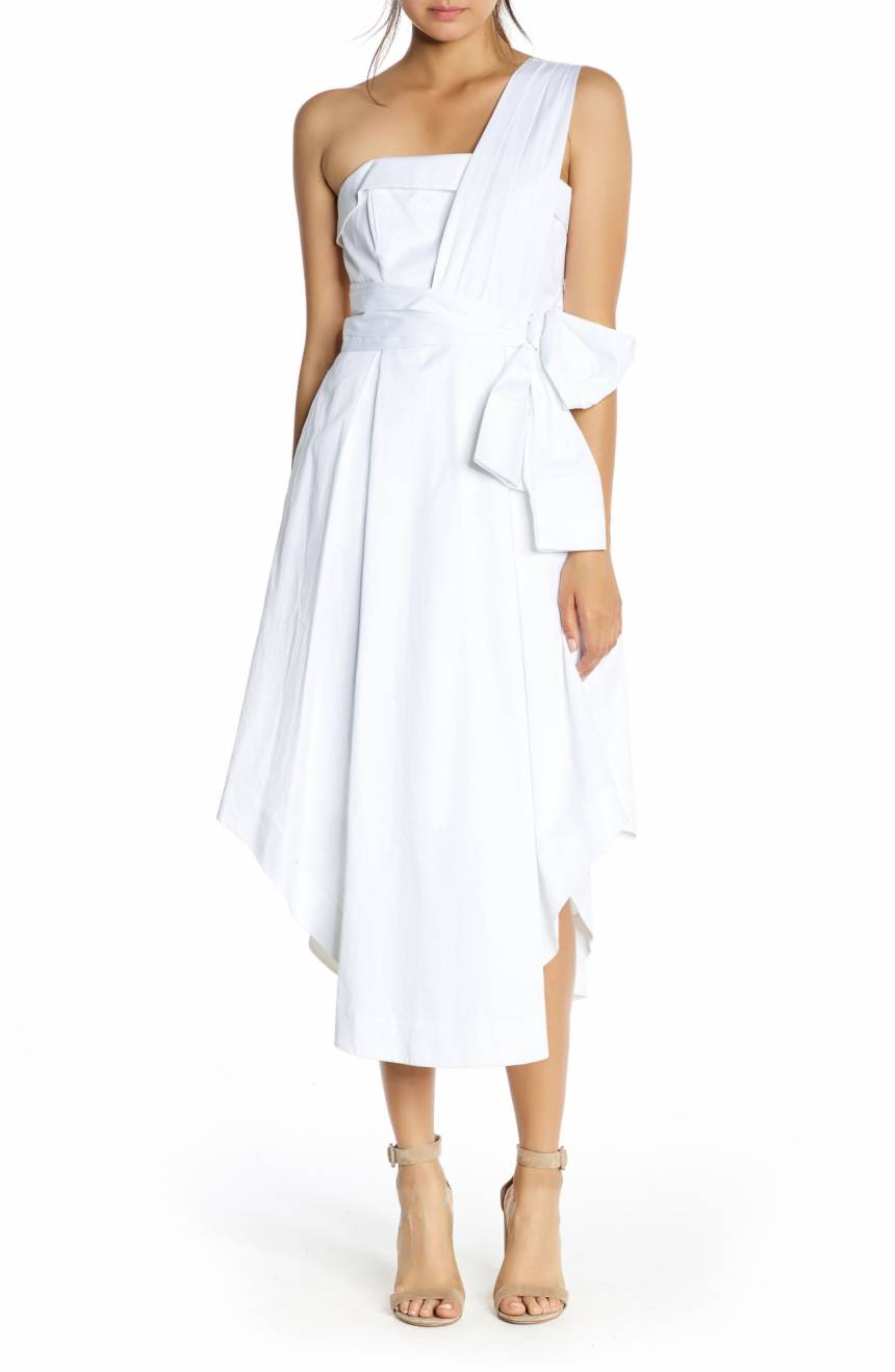 Kendall + Kylie white dress