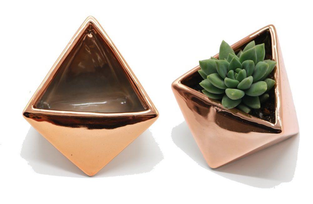 Triangle Shaped Modern Ceramic Succulent Planter