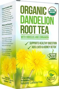 dandelion root tea kiss me organics