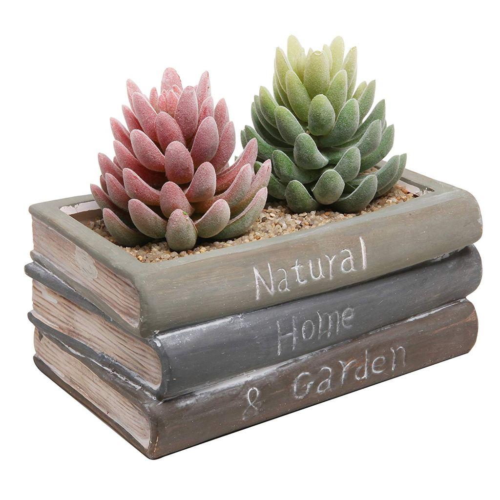 Book Design Succulent Planter Flower Pot