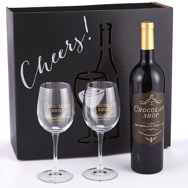 Chocolate Wine Glass Set