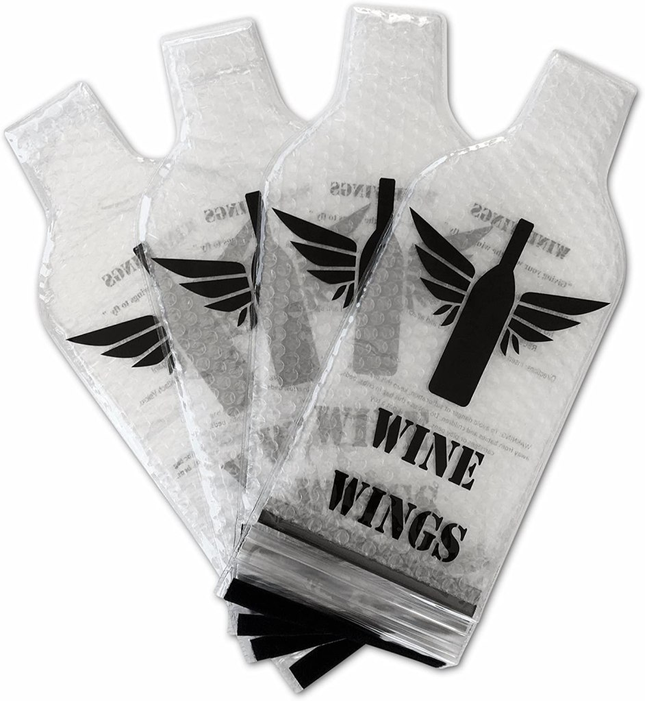Gifts for wine lovers - Wine Wings Reusable Bottle Protector Sleeve