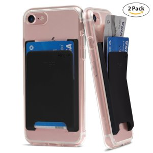 phone wallet card holder adhesive sleeve card slot