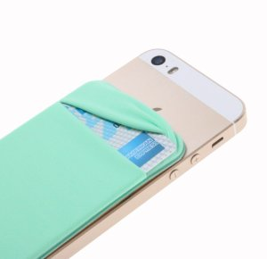 phone wallet card holder adhesive sleeves elastic