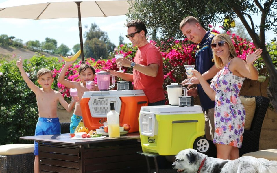 The Coolest Cooler makes tailgating dreams