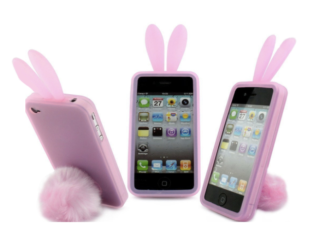 Bunny Skin Case with Furry Tail
