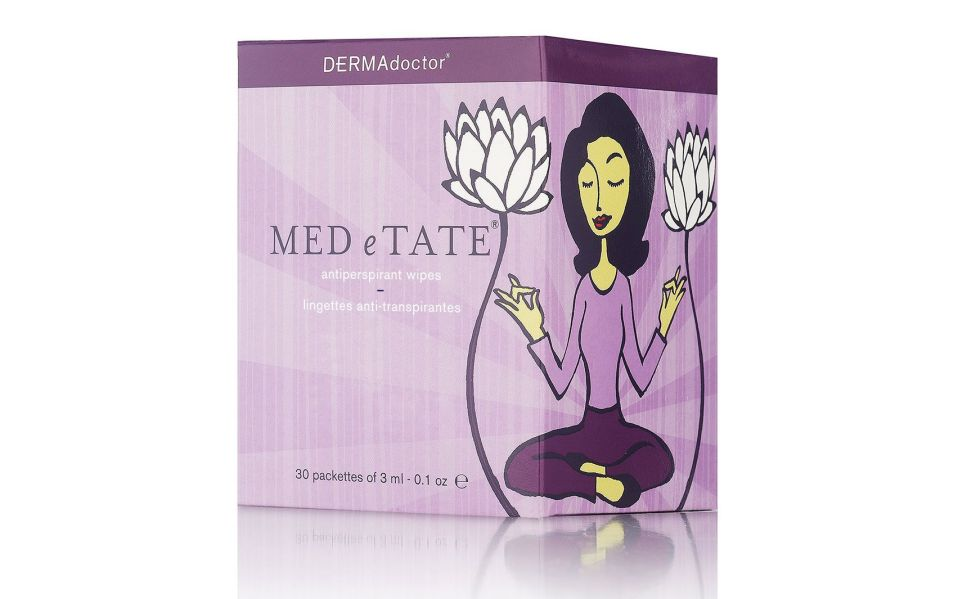 dermadoctor med-e-tate antiperspirant wipes