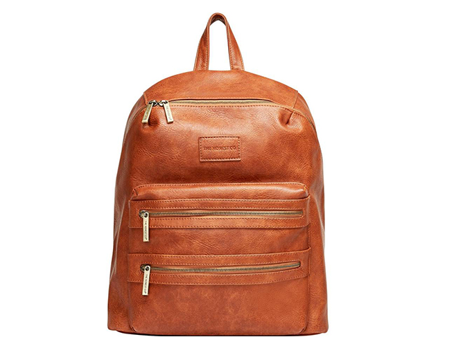 This Men's Faux Leather Backpack Is