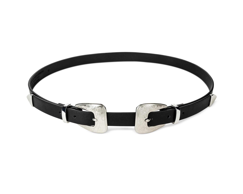 womens double buckle belt Target